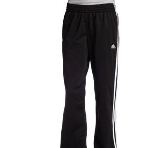 ADIDAS women's 3 stripe pants black size large